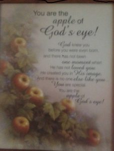 Apple of Gods eye